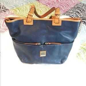 Dooney & Bourke Navy Double Pocket Handbag